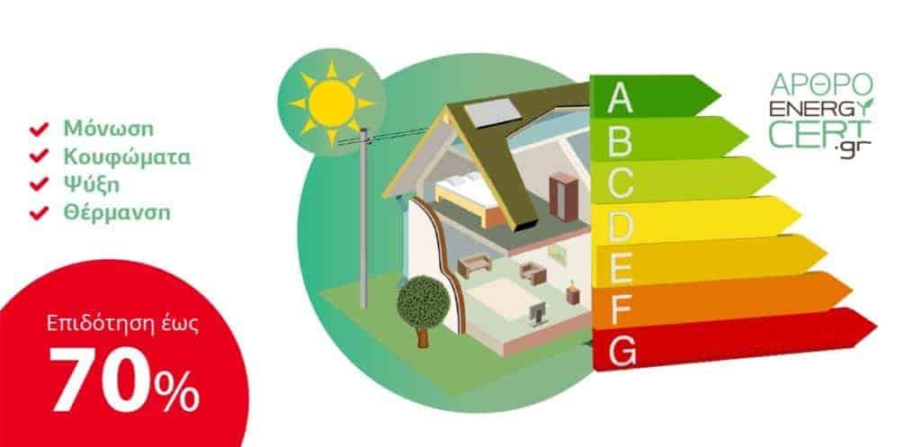Energycert άρθρο εξοικονομώ κατ' οίκον